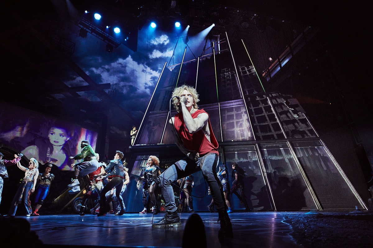 Andrew Polec as Strat & Company in BAT OUT OF HELL THE MUSICAL. Photo Credit - Specular