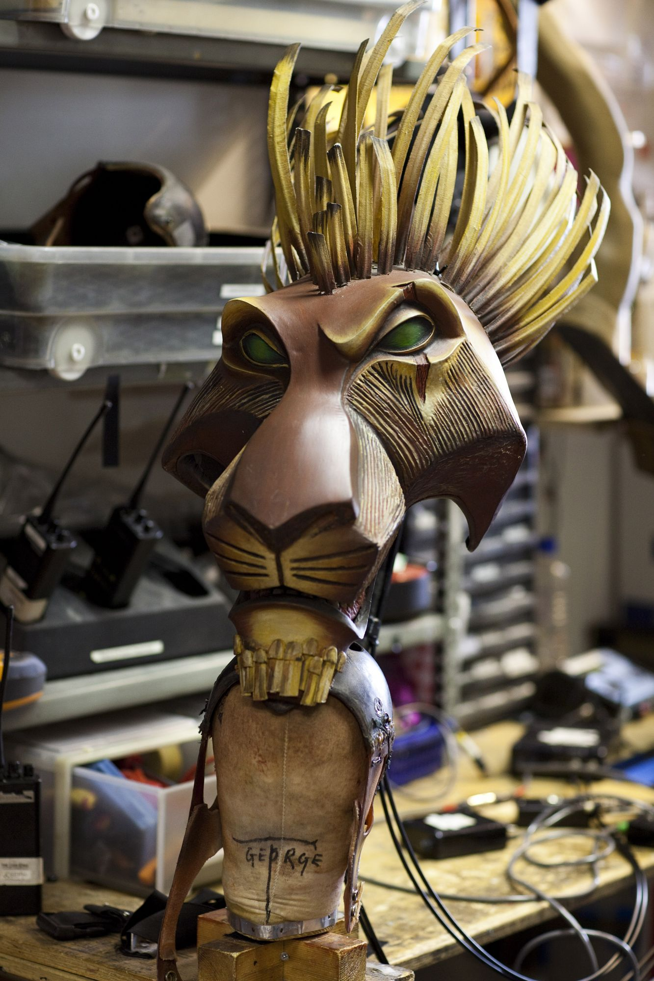 Scar's Mask from Disney's The Lion King at the Lyceum Theatre