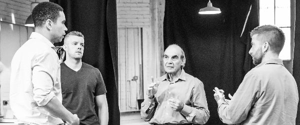 Pinter Two Rehearsal Shot