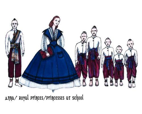 King and I - Anna and princes/princesses at school
