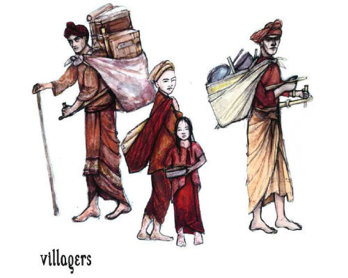 King and I - villagers