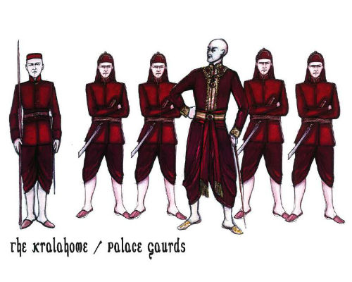 King and I - palace guards